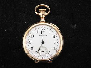 15 Jewel 1903 04 Ladies Antique Waltham Pocket Watch 14k Gold Case Working