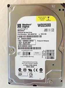 Western Digital WD Caviar IDE 250GB 7200 RPM Hard Drive WD2500 JB ATA PATA EIDE