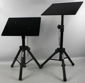 2 Pyle PLPTS2 Pro DJ Laptop Tripod Adjustable Stand Laptop Notebook Stand