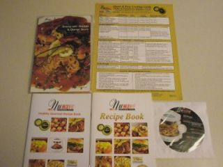 Nuwave Infrared Pro Oven 25 Recipe Cards Book Cooking Guide Instructional DVD