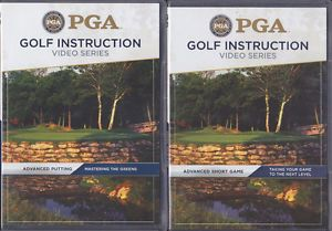 Lot of 5 PGA Golf Instruction Video Series DVDs Your Choice of 18 Titles