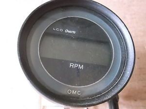 OMC LCD Quartz Tach Tachometer 20LK Inboard Outboard Boat Motor Marine Gauge