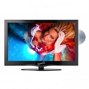 """Supersonic 13"""" inch Portable LED HDTV HD TV DVD Television Combo AC DC 12V Volt"""