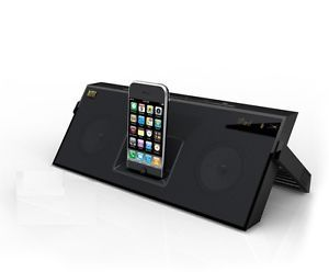 Altec Lansing IMT620 Speakers for iPhone iPod FM Radio Rechargeable Battery