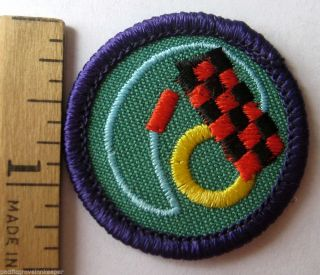Girl Scout 1990 2001 Junior Toymaker Badge Checkers Chess Jump Rope Patch
