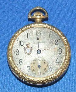 Vtg Stanford 6 Jewel Swiss Made Pocket Watch Supreme Gold Filled Case Antique
