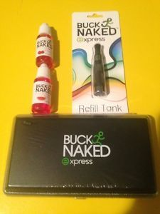 Black Buck Naked Pen Oil Vaporizer w Charg 2 Juices and Extra Tank