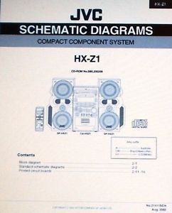 JVC HX Z1 Compact Component System Schematic Diagrams Printed Bound in English