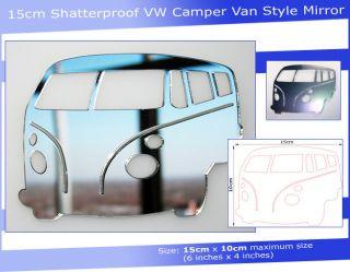 15cm Shatterproof VW camper Van Style Safety Mirror