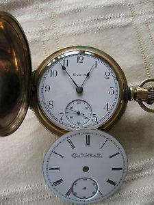 18 Size 17 Jewel Elgin Hunter Case Pocket Watch Running Gold Filled Case