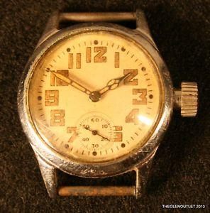 Mens WW II 1942 Waltham 17 Jewel Movment Keystone Case Wrist Watch Ord Dept