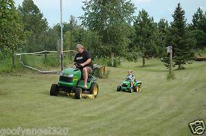 """John Deere Hydro Garden Tractor Riding 48"""" Lawn Mower Model L120 Hydrostatic"""