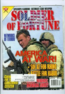 2002 Soldier of Fortune Networks of Terror Sof at Rhino Battle for Kabul