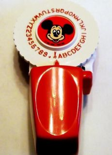 Scarce Mickey Mouse Disney 3D Embossing Label Maker Toy 2 Refill Tapes Nice Gift