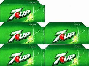 7 Up Small Set 5 Same Title 7up Vending Machine Flavor Labels