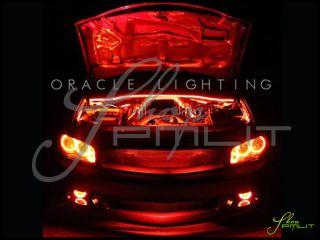 Dodge 06 10 Charger LED White Blue Angel Eyes Demon Halo Fog Light Bulbs Kit