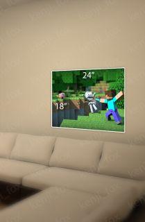 Minecraft Game Poster Print 24x18 Steve Diamond Sword Skeleton USA Seller New