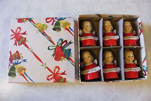 Vintage Ardalt Japan Merry Christmas Angel Bells Different Language Original Box