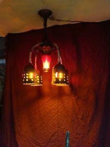 Steampunk Chandelier Star Trek Lamp Rat Rod Garage Light Steampunk Lamp