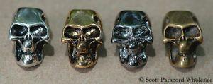 Metal Skull Beads 10 ea Large Hole 550 Paracord Lanyards and Bracelets