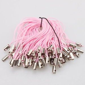 100x Wholesale New Cellphone Strap Pink Lariat Lanyards Fit Findings 5cm 130130