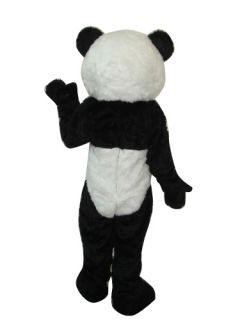 Long Plush Panda Bear Adult Size Mascot Costume
