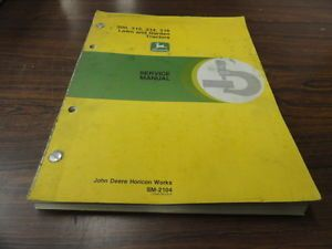 John Deere JD 300 312 314 316 Lawn Garden Tractor Technical Service Manual