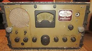 Scott Marine Military WWII Era SLRM Tube Radio Receiver