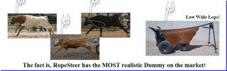 Vegas Team Roping Rope Dummy Ropesteer Head Heeler Rodeo Practice Wheels New Fun