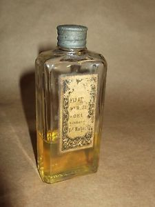 German WWII Medicine Bottle with Stopper and Label