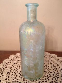 J H Zeilin Co Darby's Prophylactic Fluid Bottle Philidelphia Vintage