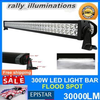 "52""300W LED Work Light Bar Lamp Spot Flood Beam Offroad Jeep SUV ATV 4WD 10V 30V"