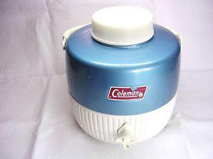 Vintage 1976 Coleman Snow Lite Blue 1 Gal Water Cooler Picnic Jug