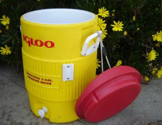 Igloo Industrial 5 Gallon Water Cooler Ice Chest Drink Dispenser Safety Yellow