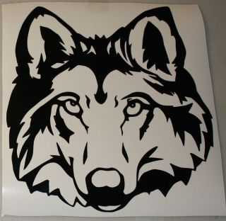 Wolf Head Vinyl Graphic Decal for Cars Walls Windows Golf Carts Bikes Etc