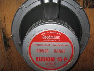 "WEM Vintage Guitar Speaker Cabinet 2x15"" Goodmans Speaker for Hiwatt 4 Ohm"