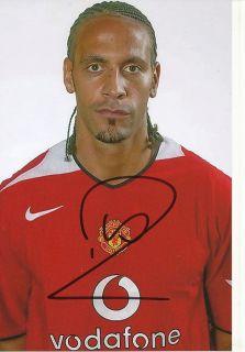 Rio Ferdinand Manchester United Foto Mit Unterschrift 143672 Mik