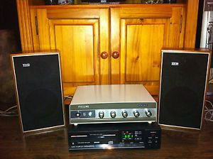 High Quality Philips Stereo Tube Amplifier Original Stereo Loudspeakers