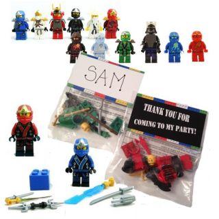 24 Lego Ninjago Figure Men Birthday Party Favor Bags Tags