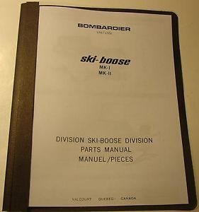 1969 Ski Doo Snowmobile Ski Boose MK I MK II Parts Manual in Binder
