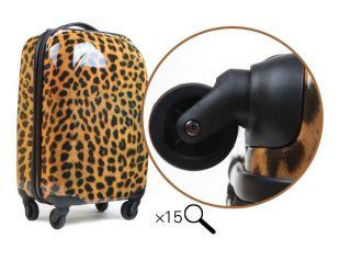 "Fashion Girl Luggage Suitcase Trolley Bag Rolling Wheel Sexy Leopard Print 20"""