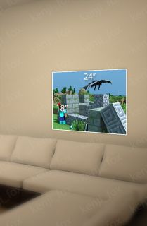 Minecraft PC Xbox Big Game Poster Print 24x18 Steve Diamond Enderdragon USA New