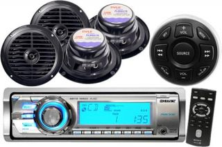 Sony CDXM60UII Marine Boat CD MP3 iPod Radio Stereo 4 Speakers Wired Remote