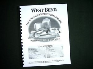 West Bend 41083 Bread Maker Machine Instruction Manual w Recipes 41083