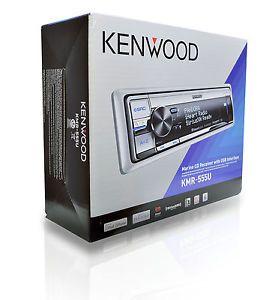 Kenwood KMR 555U Marine Boat CD MP3 Radio Dual USB iPod iPhone Stereo Receiver
