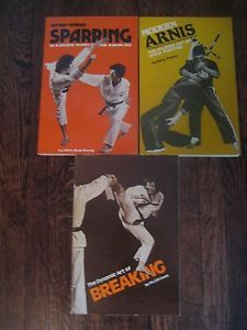 3 Karate Martial Arts Books Sparring Tae Kwon do Kang Breaking Gwon Arnis Presas