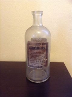 Antique Cannabis Indica Medicine Bottle Early 1900's St Louis MO Vintage