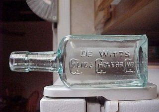 De Witts Colic Cholera Cure Chicago Nice Old Medicine Bottle 1890s