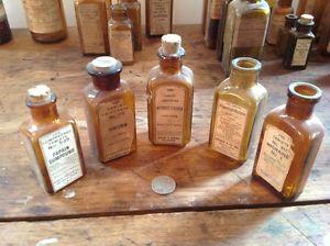 Old Antique Medicine Bottles
