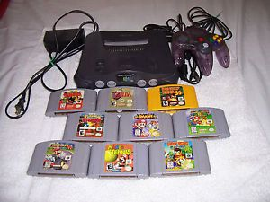 Nintendo 64 Game Console Super Smash Bros Mario Kart Zelda Much More